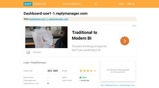 Dashboard-use1-1.replymanager.com: Login | …