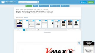 DIGITAL WATCHDOG VMAX IP 4CH USER …