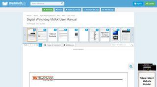 DIGITAL WATCHDOG VMAX USER MANUAL …