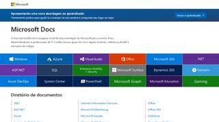 Documentação técnica, API e ... - docs.microsoft.com