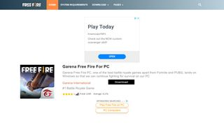 Download Free Fire PC 1.31.0 (Official) - Windows 10/8/7/XP
