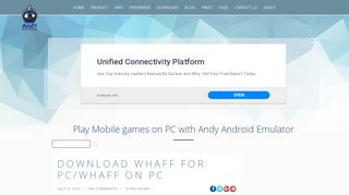 Download WHAFF for PC/WHAFF on PC - Andy - …