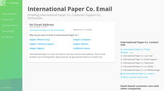 Email International Paper Co.   Tips & Talking Points