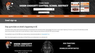 Email sign-up - Union-Endicott