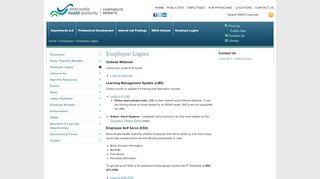 Employee Logins | Nova Scotia Health Authority - Corporate