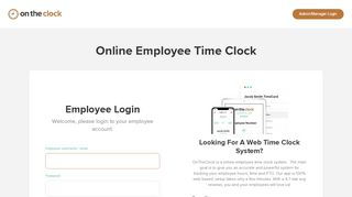 Employee Time Clock Online • OnTheClock