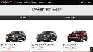 Estimate Your Payment on a 2020 GMC Vehicle - gmc.com