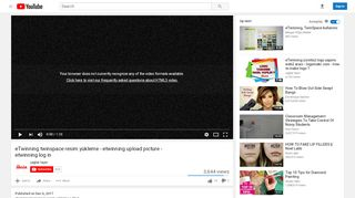 eTwinning twinspace resim yükleme - etwinning ... - YouTube