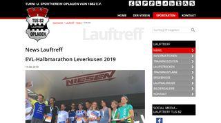 EVL-Halbmarathon Leverkusen 2019 - TuS 1882 …
