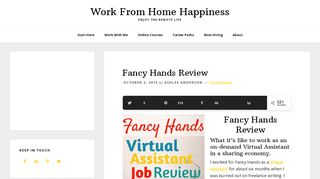 Fancy Hands Review | Work From Home Happiness