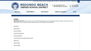 Featured Links - Redondo Beach Unified School District