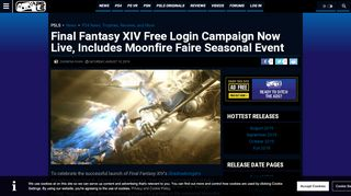 Final Fantasy 14 Free Login Campaign Now Live, Includes ...