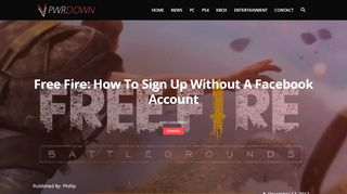 Free Fire: How to sign up without a Facebook account