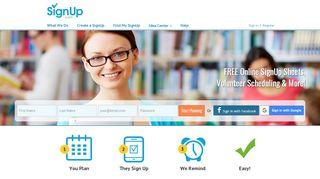Free online SignUp sheets for volunteer scheduling ...