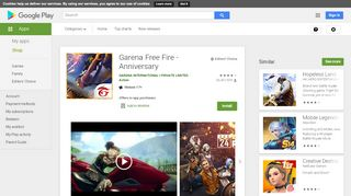 Garena Free Fire - Anniversary - Apps on Google Play