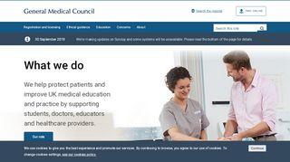 General Medical Council - GMC   Home