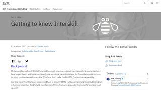 Getting to know Interskill - IBM Training and Skills Blog