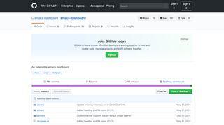 GitHub - emacs-dashboard/emacs-dashboard: An extensible ...