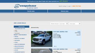 GMC Lease Deals   Swapalease.com