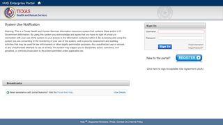 HHS Enterprise Portal - Login - Texas Health and Human Services