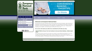 Home Main - Welcome to Evergreen National Bank