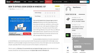 How To Bypass Login Screen In Windows 10?