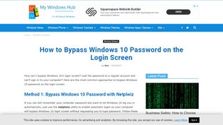How to Bypass Windows 10 Password on the Login Screen