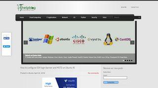 How to configure SSH login banner and MOTD on Ubuntu 16
