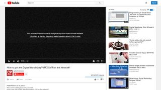 How to put the Digital Watchdog VMAX DVR on …