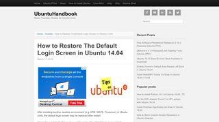 How to Restore The Default Login Screen in Ubuntu 14.04 ...