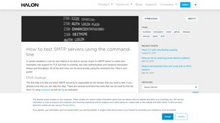 How to test SMTP servers using the command-line - Halon