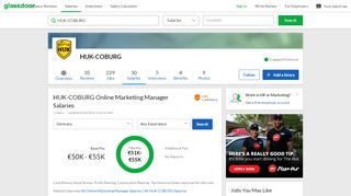 HUK-COBURG Online Marketing Manager Salaries in Germany ...