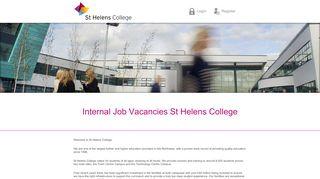 Internal Job Vacancies St Helens College - networx