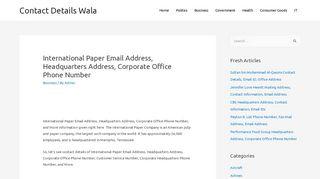 International Paper Email Address, Headquarters Address