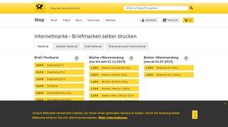 Internetmarke | Shop Deutsche Post - Shop der Deutschen ...