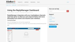 introducing the Replymanager Dashboard for Email ... - xSellco