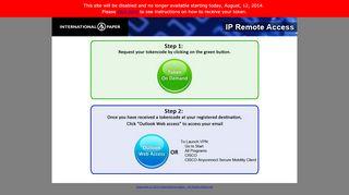 IP Remote Access - International Paper