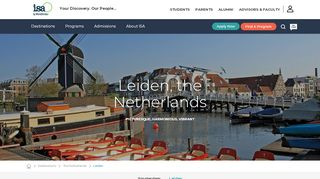 ISA Leiden, the Netherlands Study Abroad