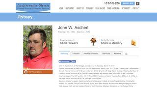 John W. Ascherl Online Obituary   Laufersweiler-Sievers ...