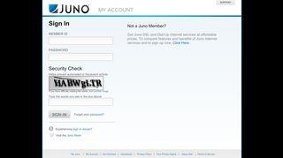 Juno - My Account - Value-priced Internet Service …