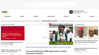 Latest News in Nigeria & Breaking Naija News 24/7 | LEGIT.NG