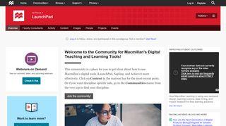 LaunchPad   The Macmillan Community