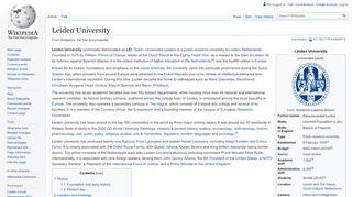 Leiden University - Wikipedia