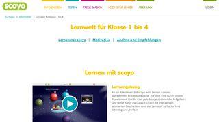 Lernwelt für Klasse 1 bis 4 - Scoyo