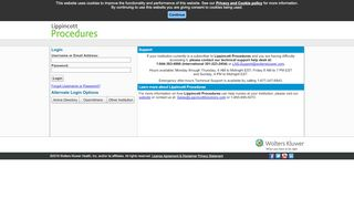 Lippincott Procedures - External User Login