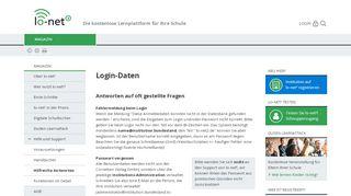 lo-net² - Login-Daten