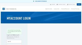 Log In Account   GM Financial - MyAccount