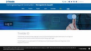 Log in | Novapoint & Quadri | Trimble Civil Engineering and ...