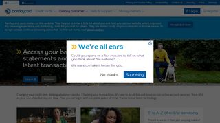 Log in or register ? online account servicing | Barclaycard