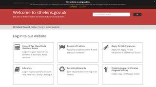 Log in to our website - sthelens.gov.uk